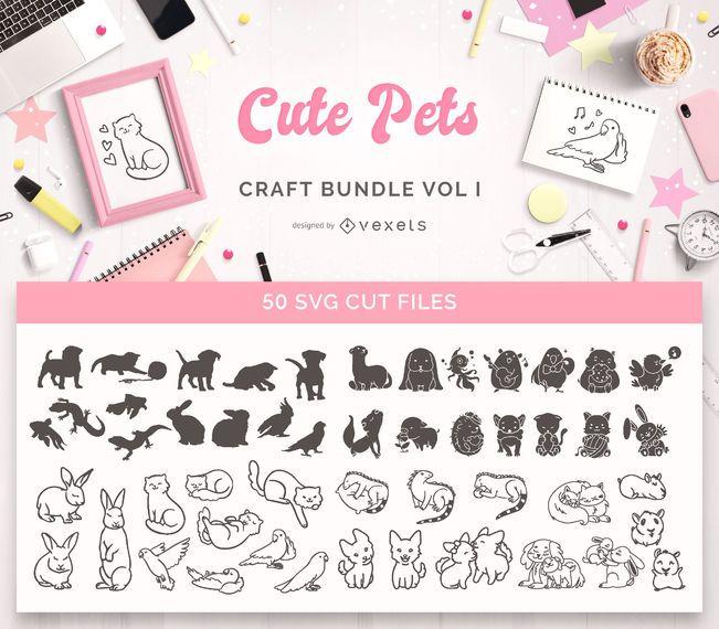 Pacote de artesanato de animais fofos Vol I