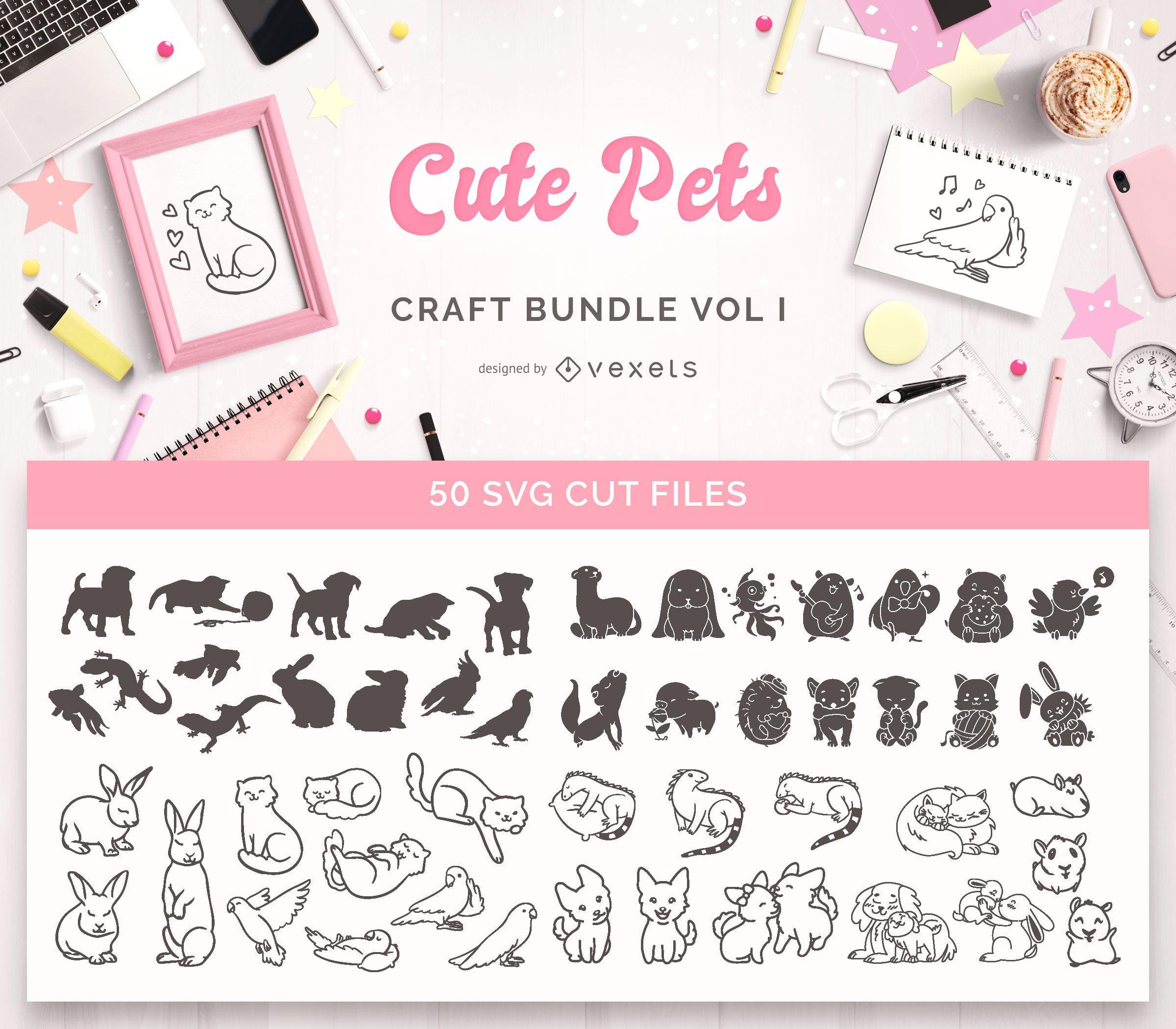 Paquete de manualidades de Cute Pets Vol I