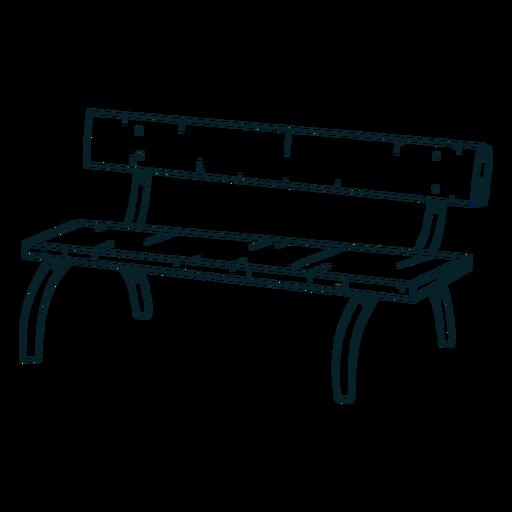 Cool bench hand hand drawn