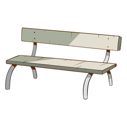 Cool bench illustration