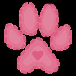 Cute heart pawprint