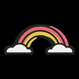 Ícone de traço bonito arco-íris
