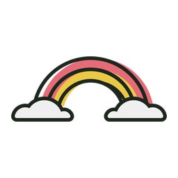 Lindo icono de trazo de arco iris