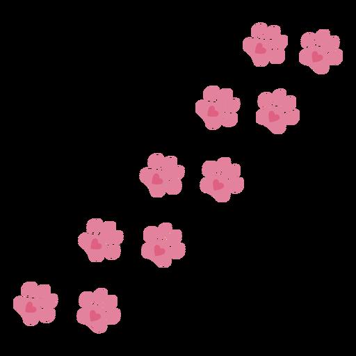 Cute valentines pawprints Transparent PNG