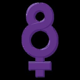Símbolo de ocho mujeres