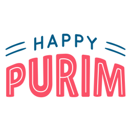 Happy purim lettering