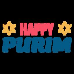 Feliz purim letras coloridas