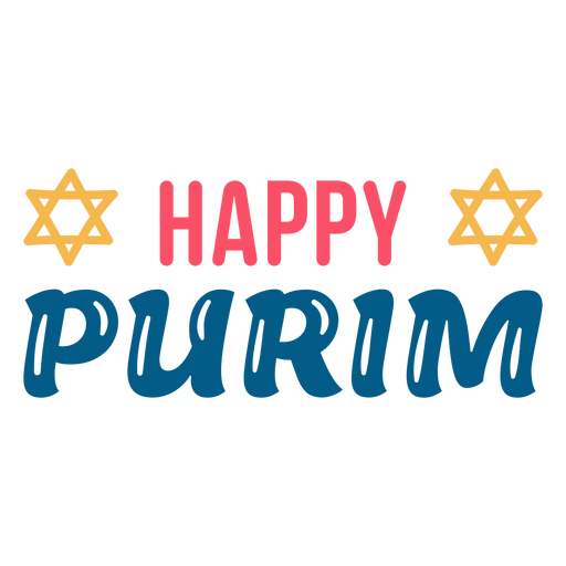 Happy purim lettering colorful