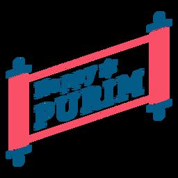 Happy purim lettering parcel