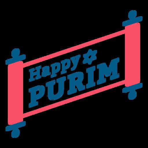 Paquete de letras feliz purim Transparent PNG