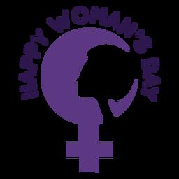 Glücklicher Frauentag Schriftzug