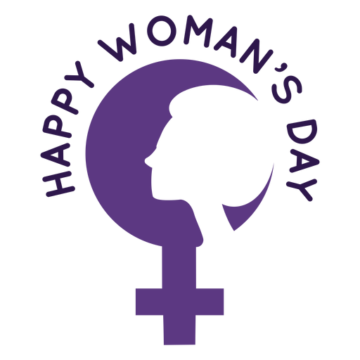Happy womans day lettering Transparent PNG