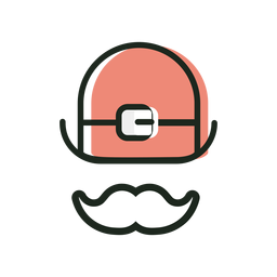 Hat moustache st patrick icon