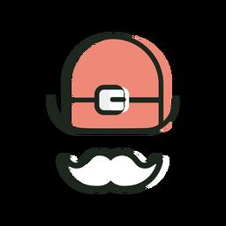 Sombrero bigote st patrick icono