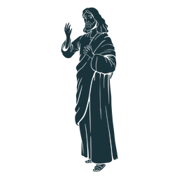 Santo jesús silueta
