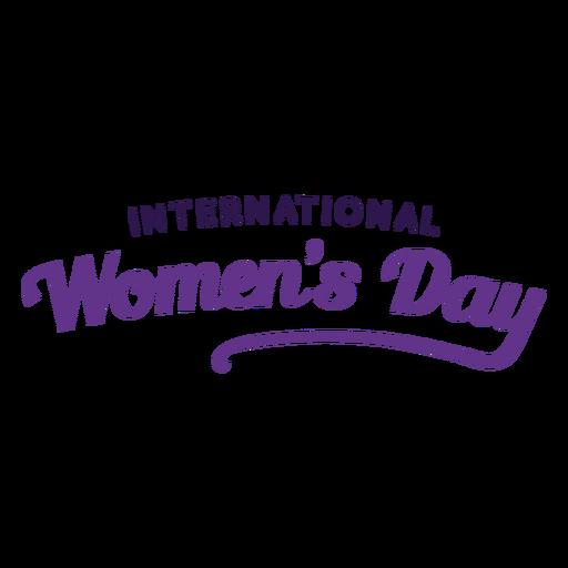 International womens day lettering