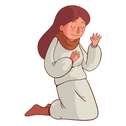 Kneeling kid illustration Transparent PNG