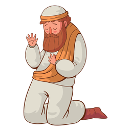 Kneeling man illustration