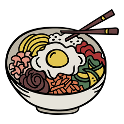 Korean bibimbap element