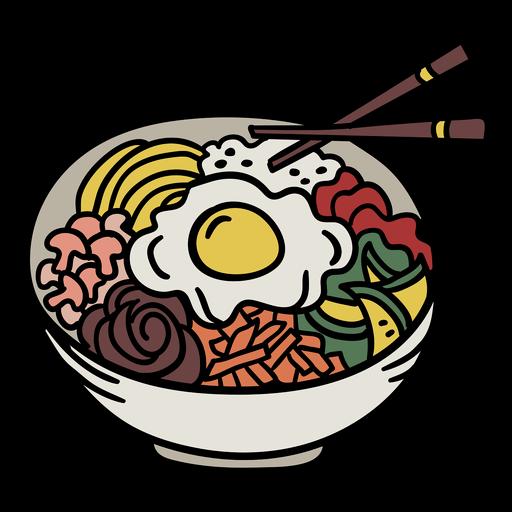 Korean bibimbap element