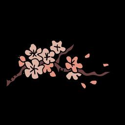 Elemento de flores de cerezo coreano
