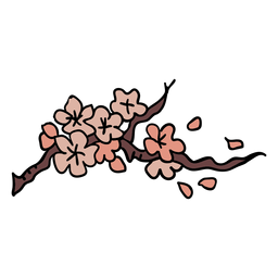 Korean cherry blossoms element