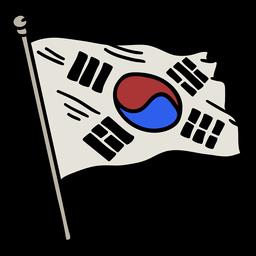Elemento de la bandera de Corea