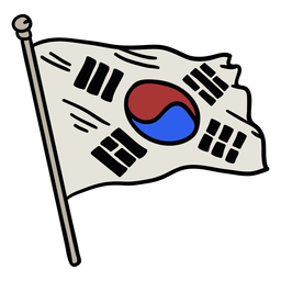 Korean flag element