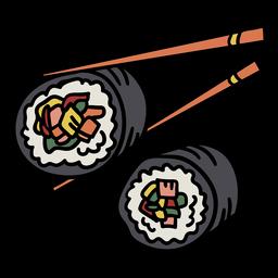 Elemento coreano de gimbap