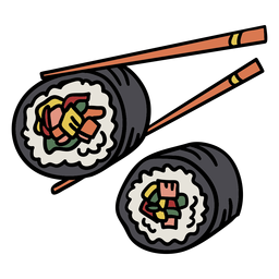 Korean gimbap element