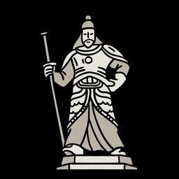 Elemento de estatua coreana