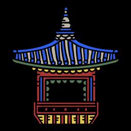Elemento de terraza coreana
