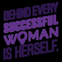 Letras detrás de cada mujer exitosa