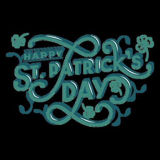 Lettering happy st patricks day