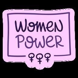Lettering women power