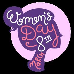 8. März Frauentag Schriftzug