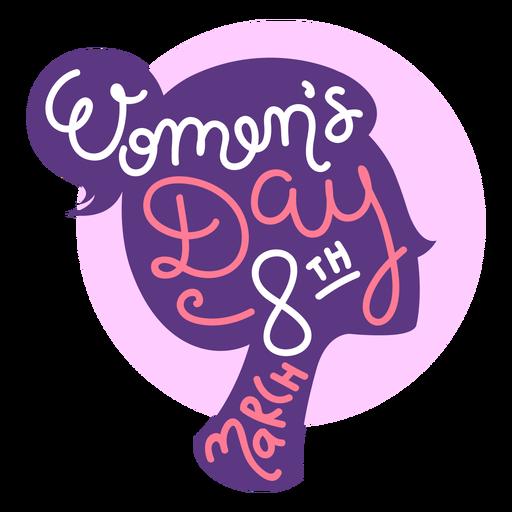 Letras del día de la mujer del 8 de marzo Transparent PNG
