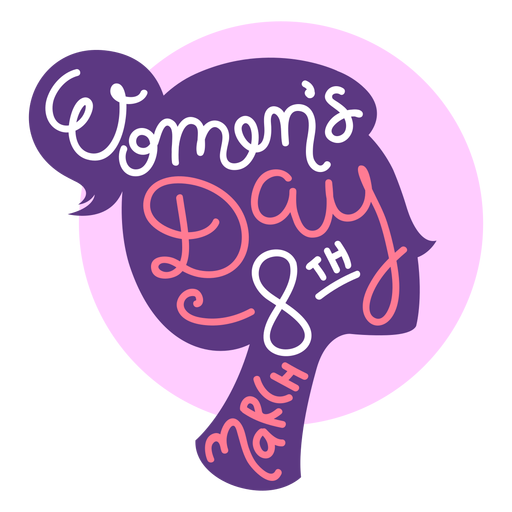 March 8th womens day lettering
