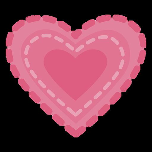 Bonito rastro de corazón