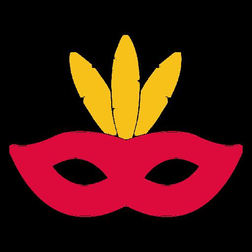 Elemento de máscara linda de papel cortado