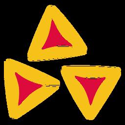 Triângulo de elemento de corte de papel