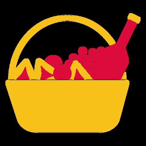 Cesta de frutas cortada