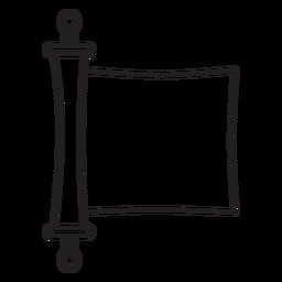 Curso de pergaminho cortado em papel