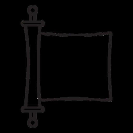 Paper cut parchment stroke