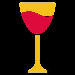 Copo de vinho cortado em papel