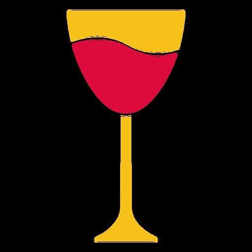 Copa de vino cortada en papel