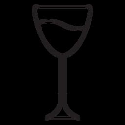 Papel cortado trazo de copa de vino
