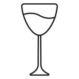 Paper cut wine glass stroke