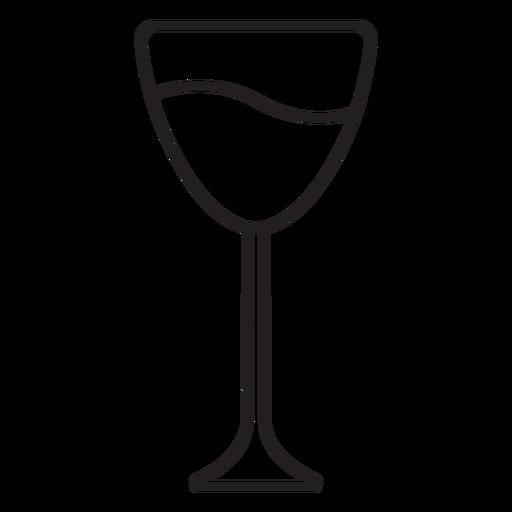 Paper cut wine glass stroke