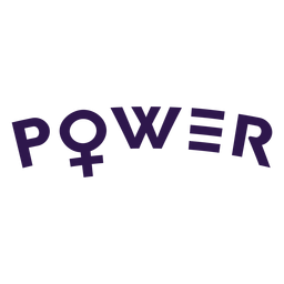 Power women symbol lettering
